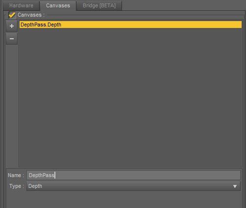 iRay Canvas Panel - Adding Depth Pass